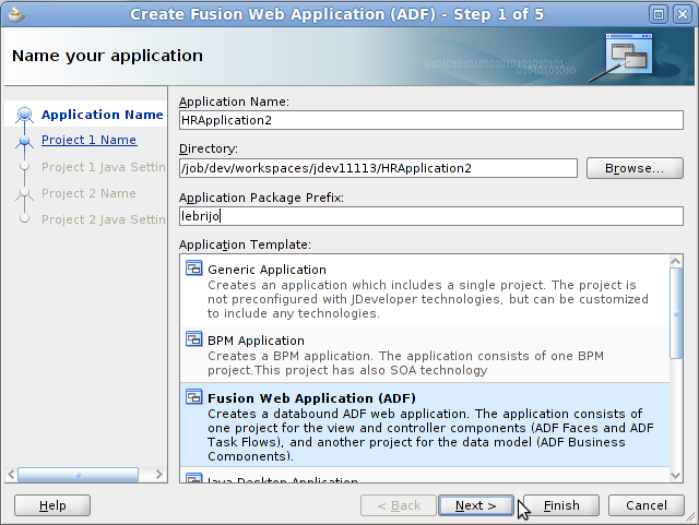 Creaing FMW application